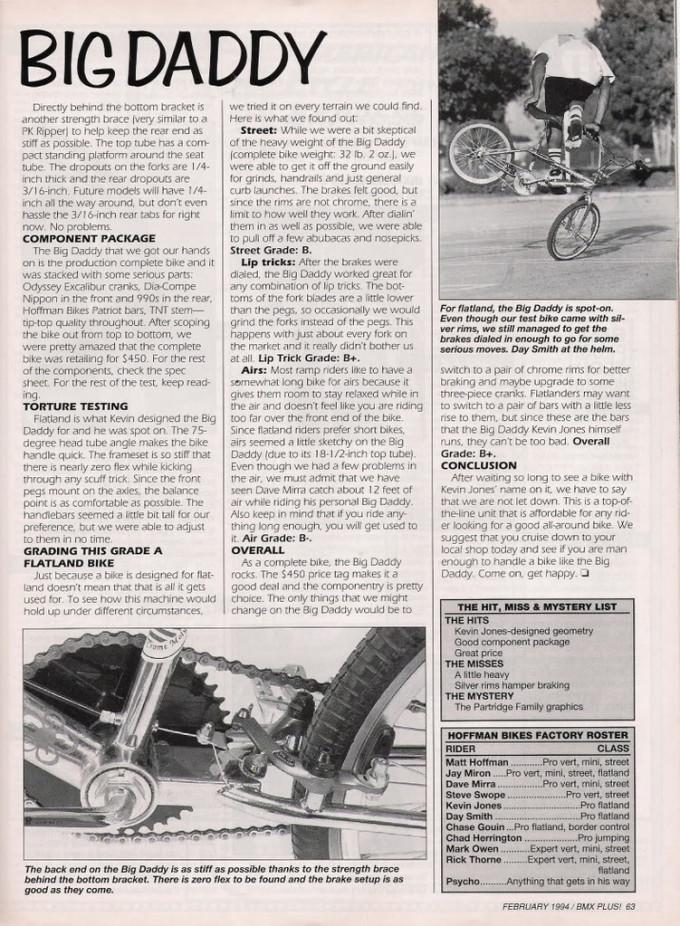 1993 Big Daddy - Bmxplus Test 2