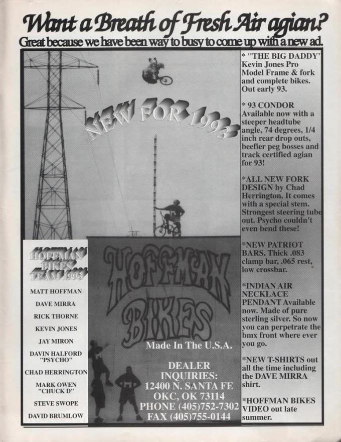 1993 Hoffman Bikes Ad
