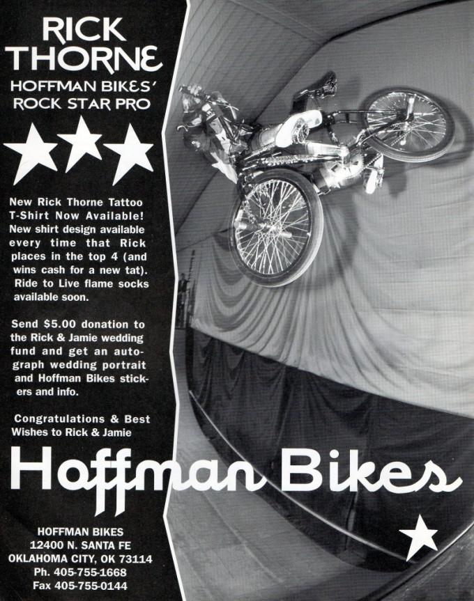 1995 Hoffman Bikes Ad - Rick Thorne