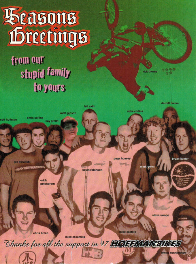 1997 Hoffman Bikes Holiday Post Card