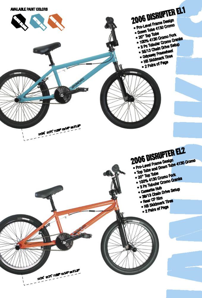 2006 Hoffman Bikes Disrupter EL1 adn El2