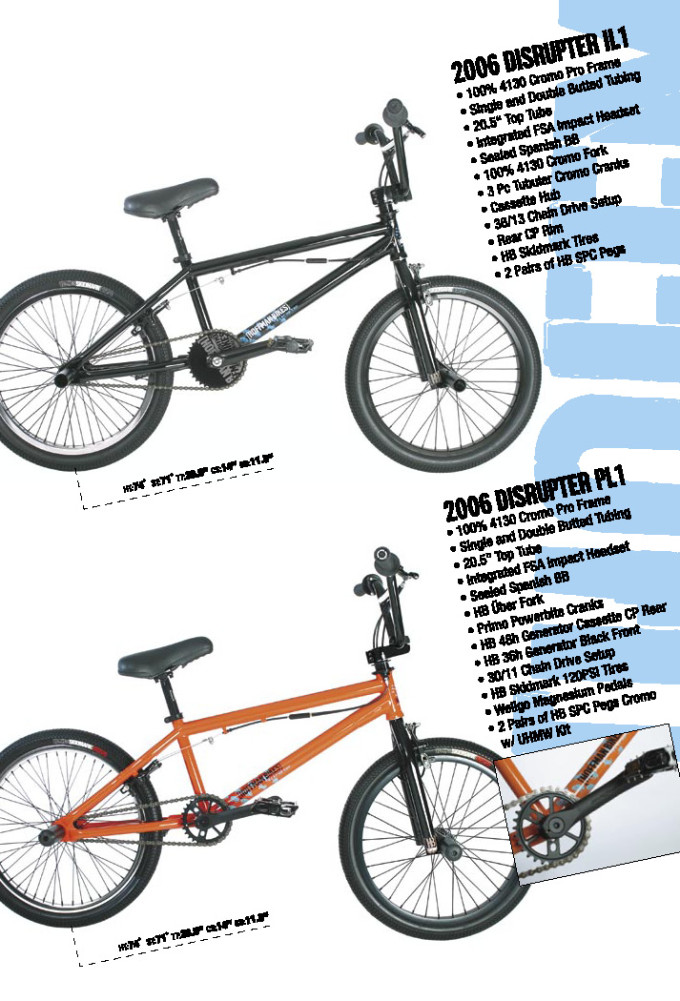 2006 Hoffman Bikes Disrupter IL and PL