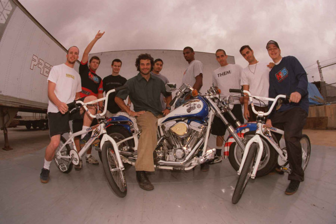 Hoffman Bikes Evel Knievel Employee Pose 1998